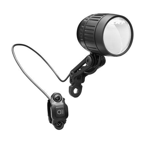 Lumotec IQ-XM 80 lux e-bike headlight with high beam (120 lux)
