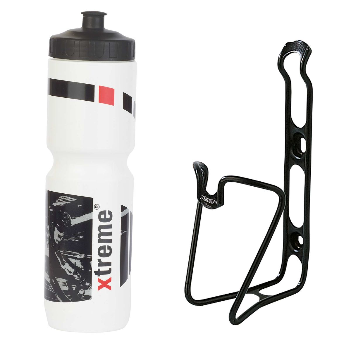 Hobby 1 l bottle + ergotec bottle cage set