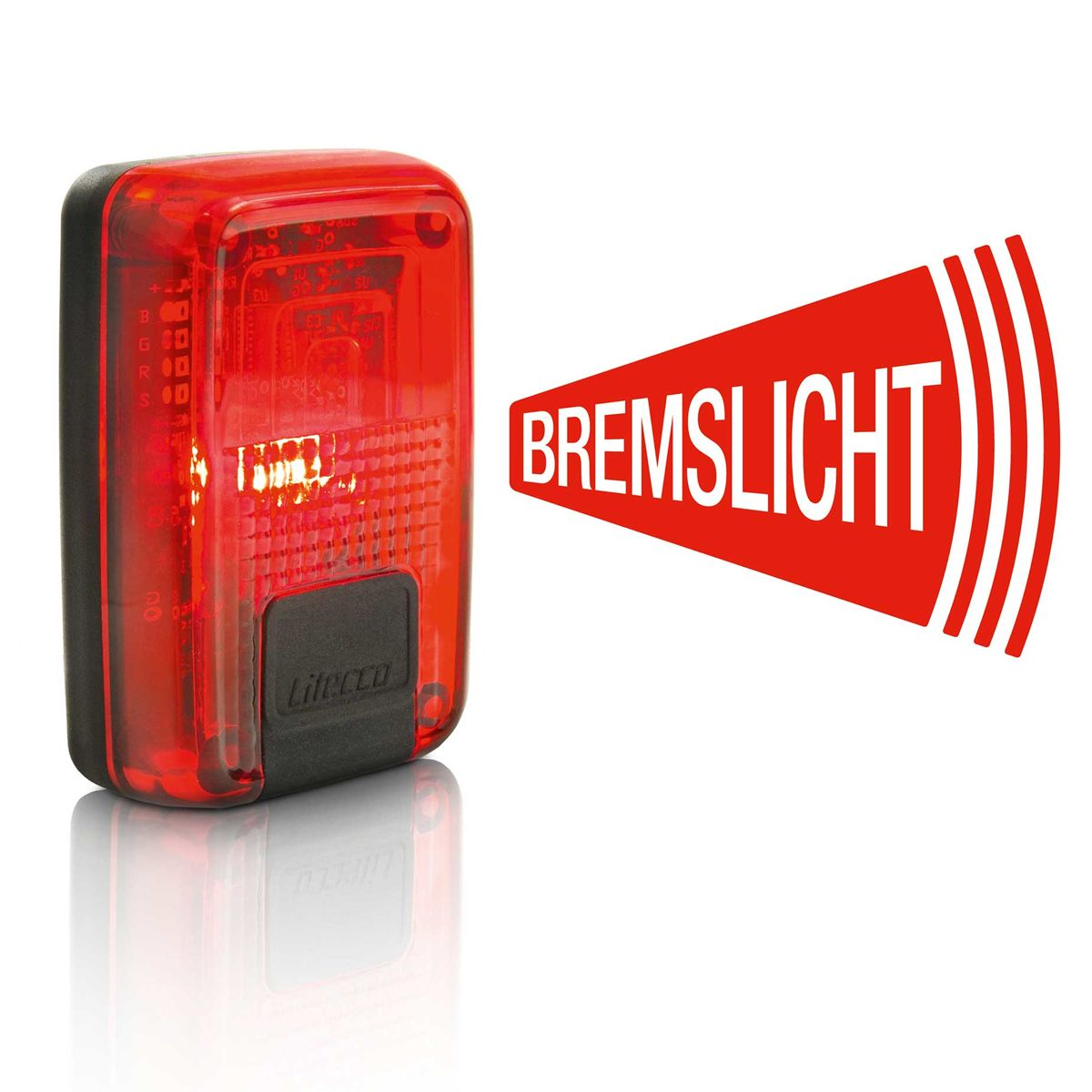 G-Ray battery rear light with brake light