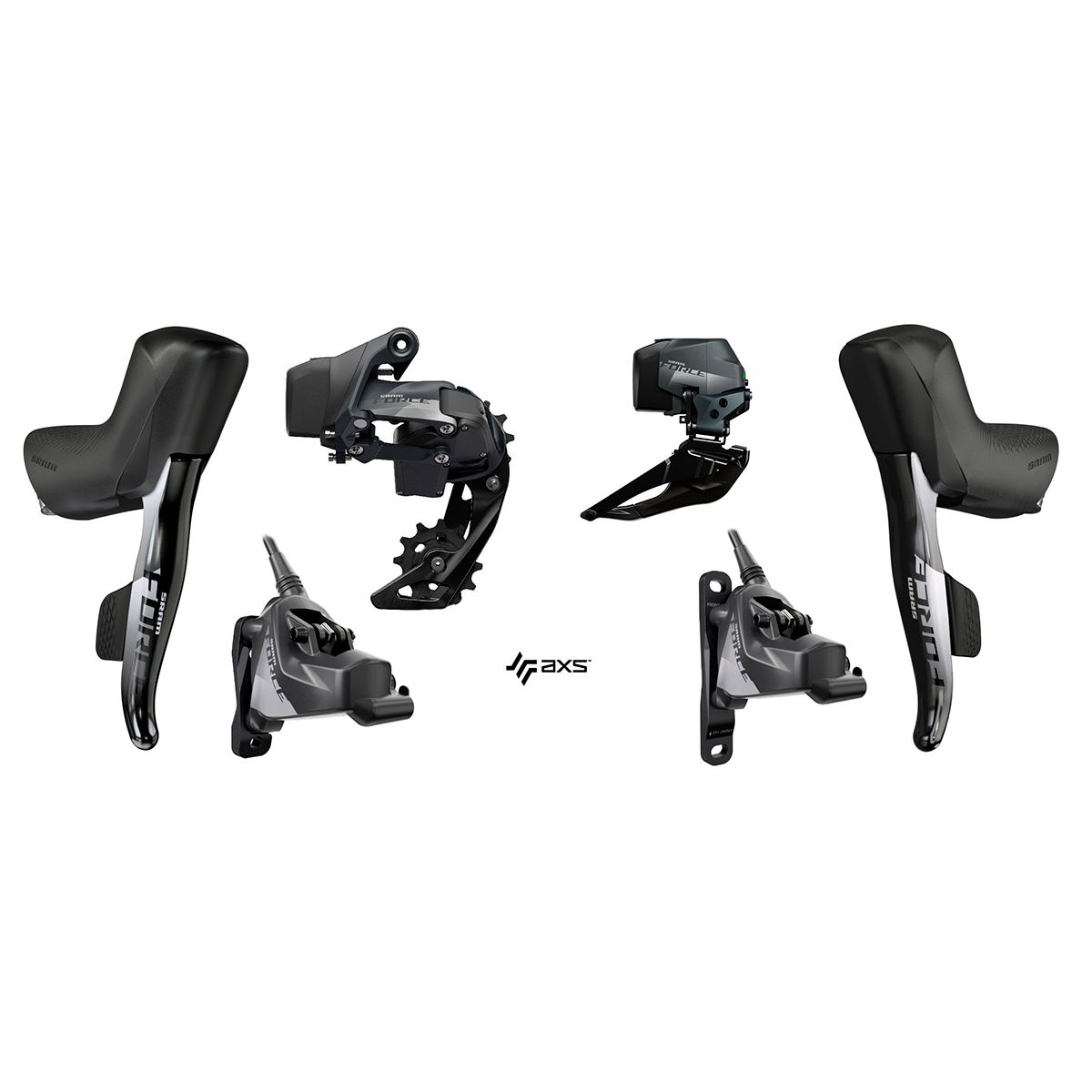 SRAM FORCE® eTap AXS™ HRD Shift-Brake Control 2x12 for Disc Brakes | Computer Battery and Charger