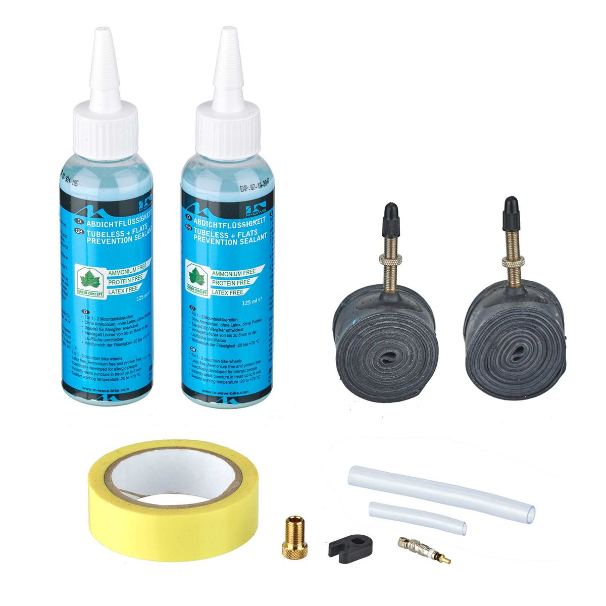 "M-Wave Tubeless Kit for Presta valve, 26"", 27,5"", 29"" 