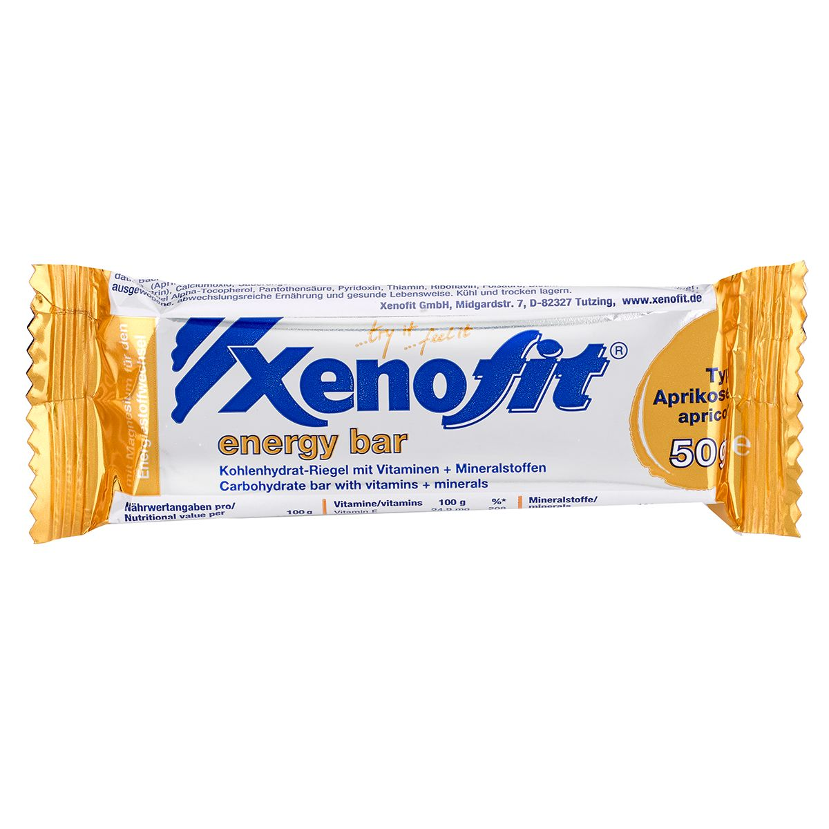 Xenofit Energy Bar carbohydrate bar with vitamins + minerals | Energibar