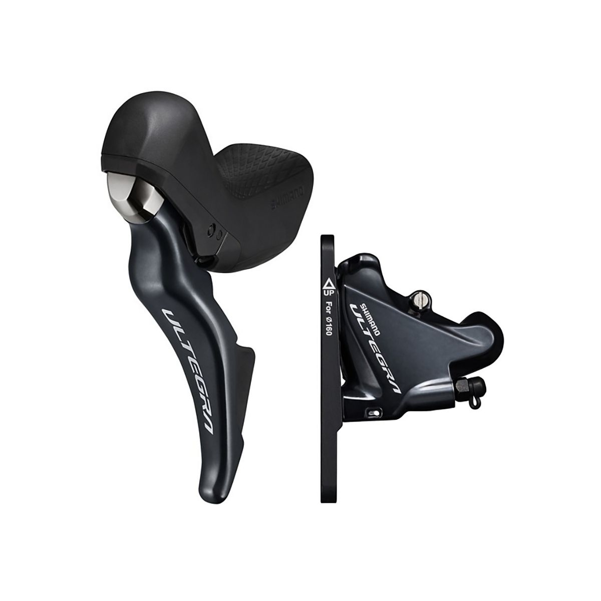 SHIMANO Ultegra ST-R8025 Brake/Shift Lever Combination 2x11 Speed with  BR-R8070 Disc Brake Caliper Front or Rear (for Small Hands)