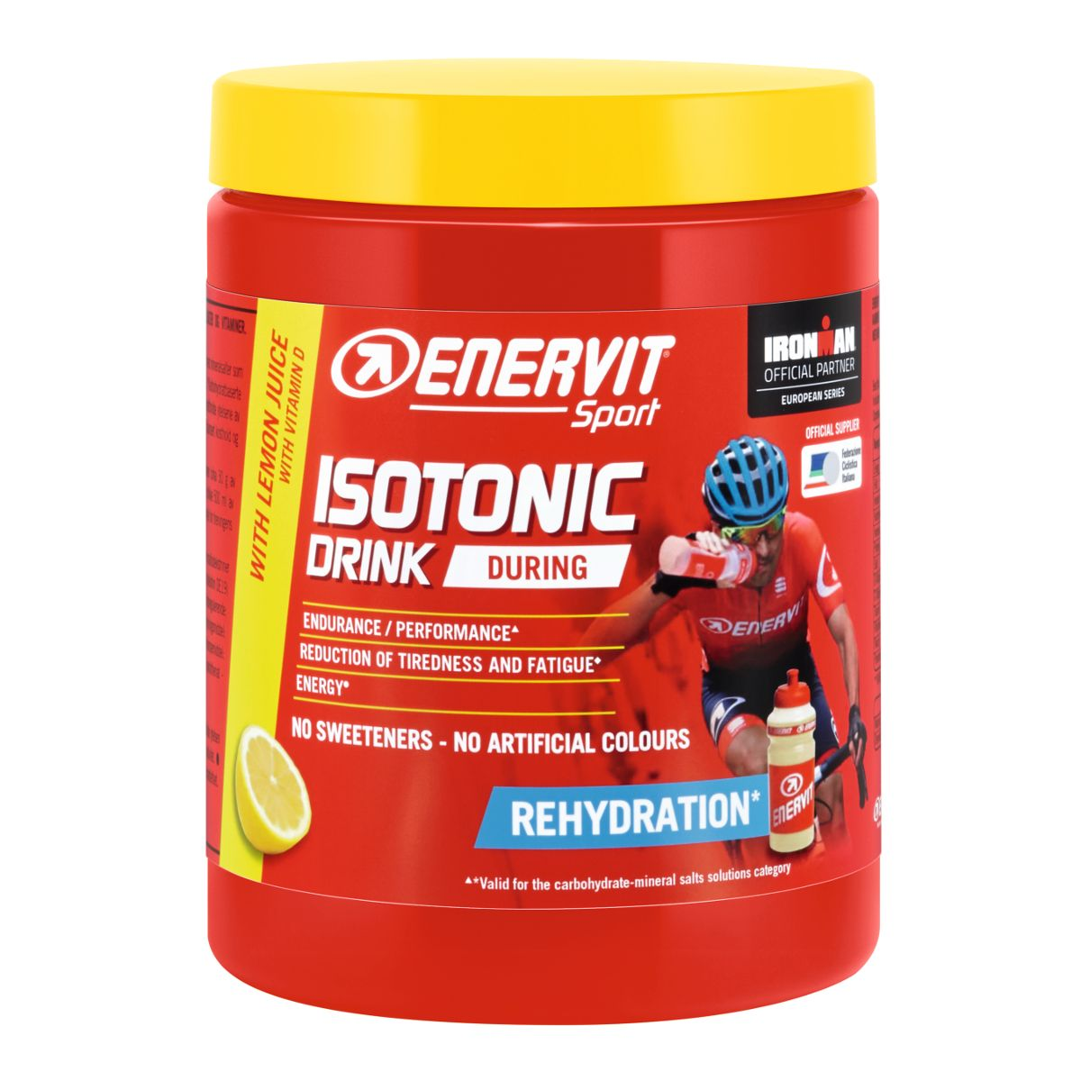 Isotonic Drink carbohydrates with mineral salts + vitamins