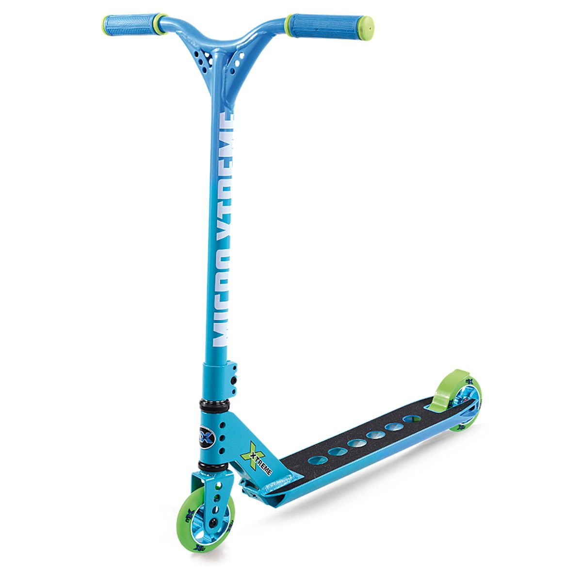 MX Trixx 2.0 Rainbow Blue Stunt Scooter with Pegs