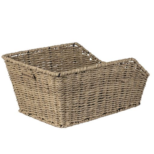 CENTO RATTAN LOOK rear bike basket