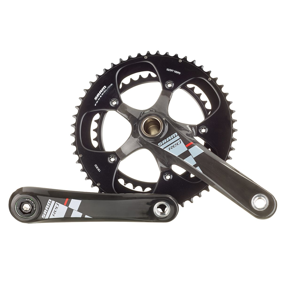 Red 10-speed 50/39 crankset