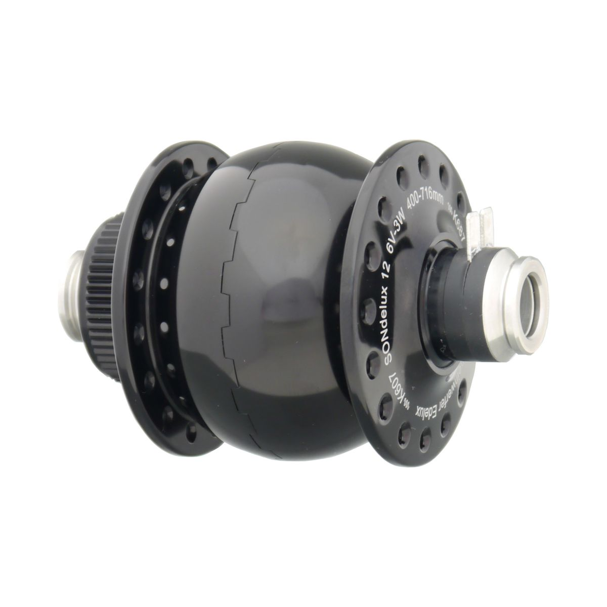 SONdelux hub dynamo for 12 mm thru axle
