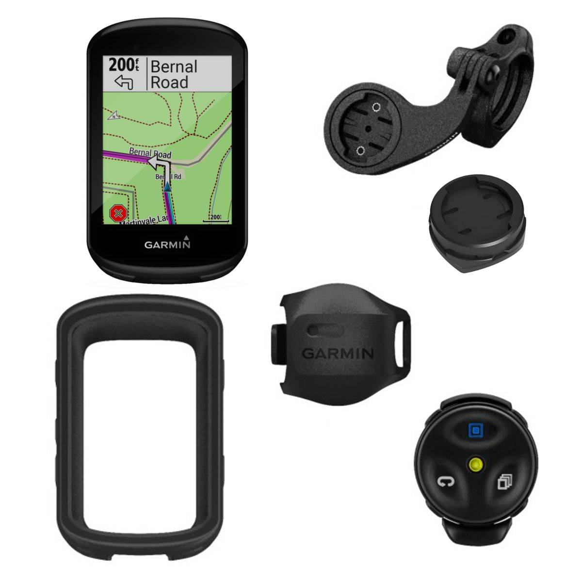 Garmin Edge 830 GPS Bike Computer MTB Bundle with V Sensor + Remote Control + Sleeve | Cykelcomputere
