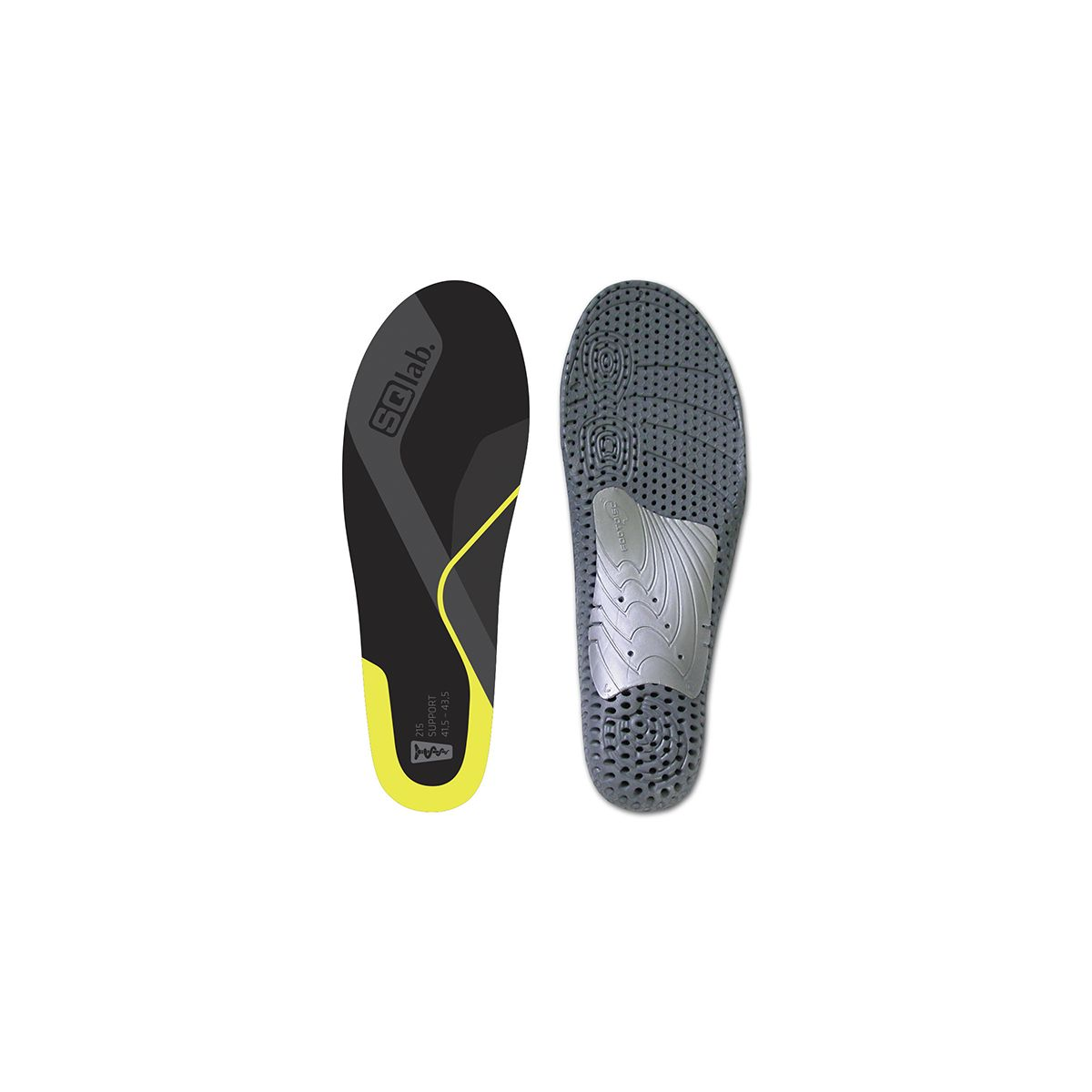 SQlabs Insoles 215 Yellow Medium-Ergonomic Cycling Bike Inner Soles
