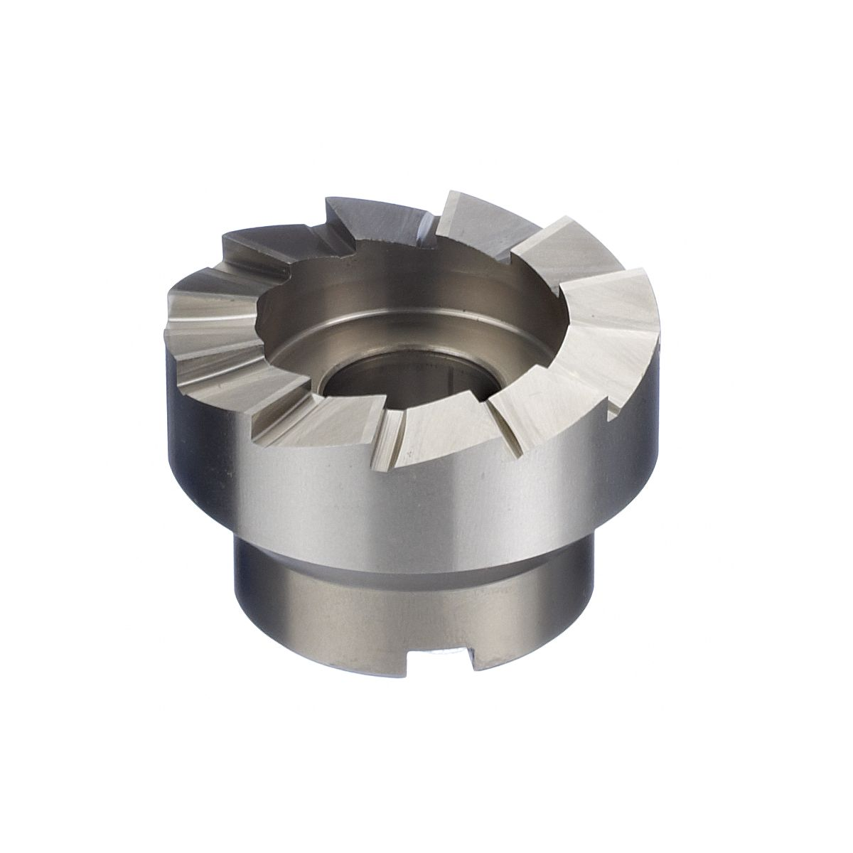 Replacement cutter head for crankset cutting tool