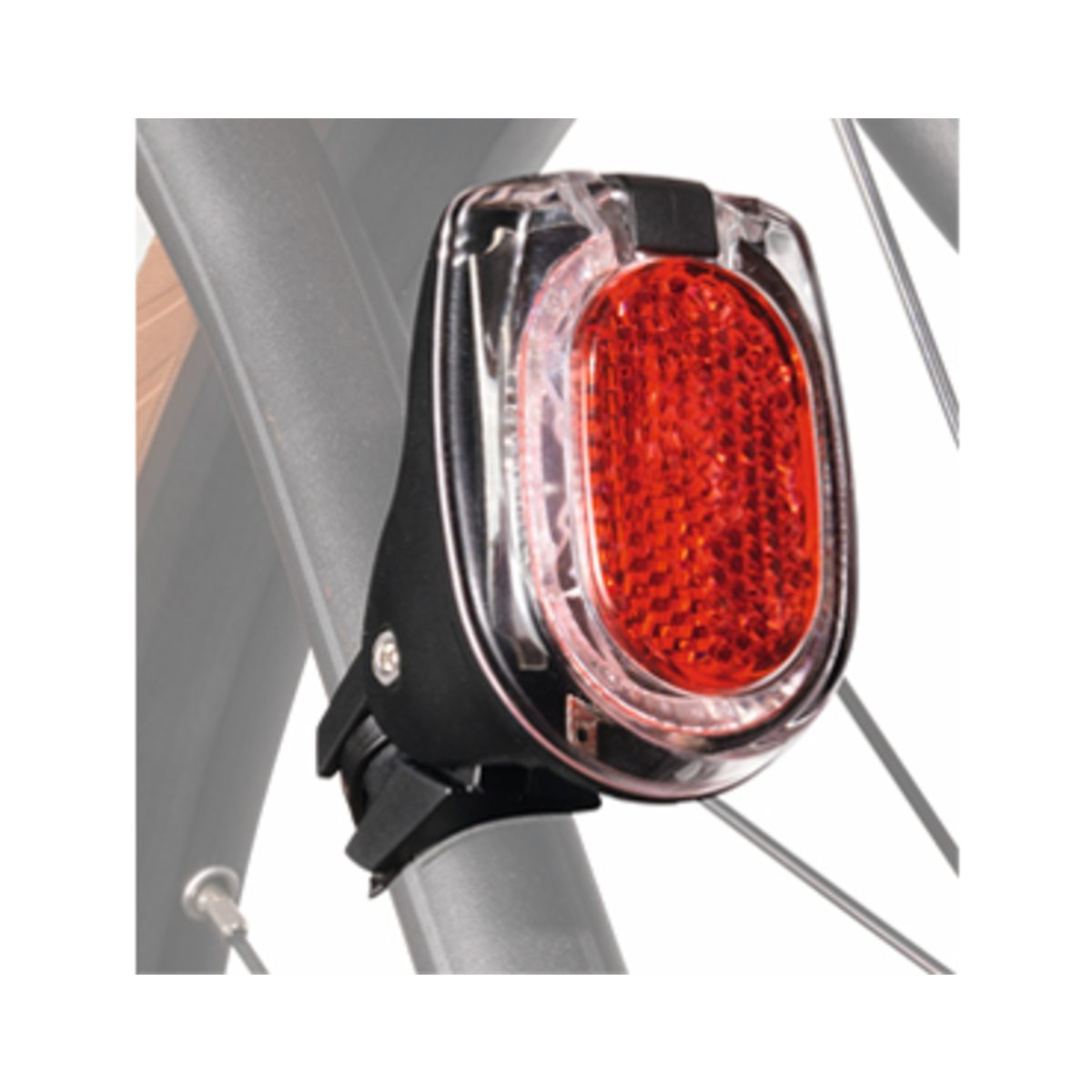 Secula plus tail light for mounting on seat stays or seat posts