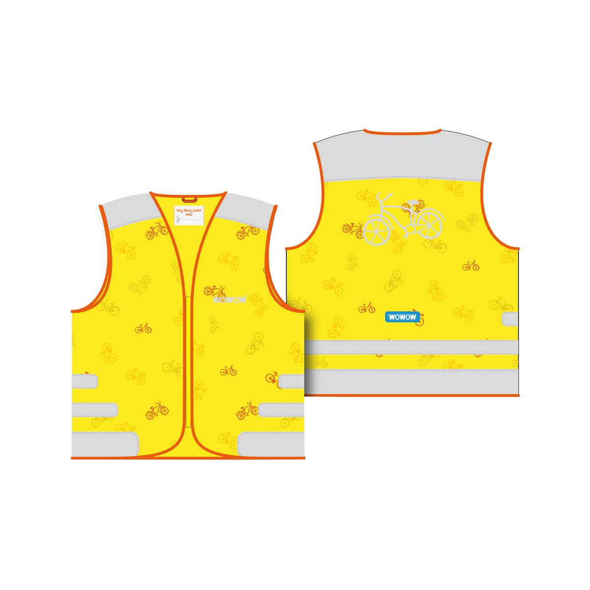 WOWOW NUTTY JACKET YELLOW children's reflective vest | Veste