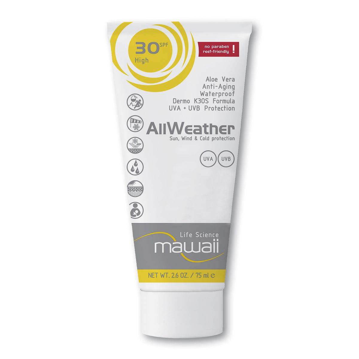mawaii AllWeather Wind & Cold Protection SPF 30 sports suncream | Freehub body