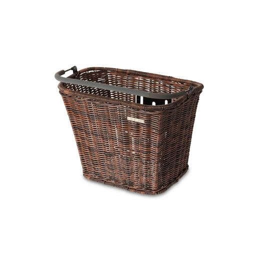BASIMPLY II RATTAN LOOK bicycle basket incl. KLICKfix adapter plate