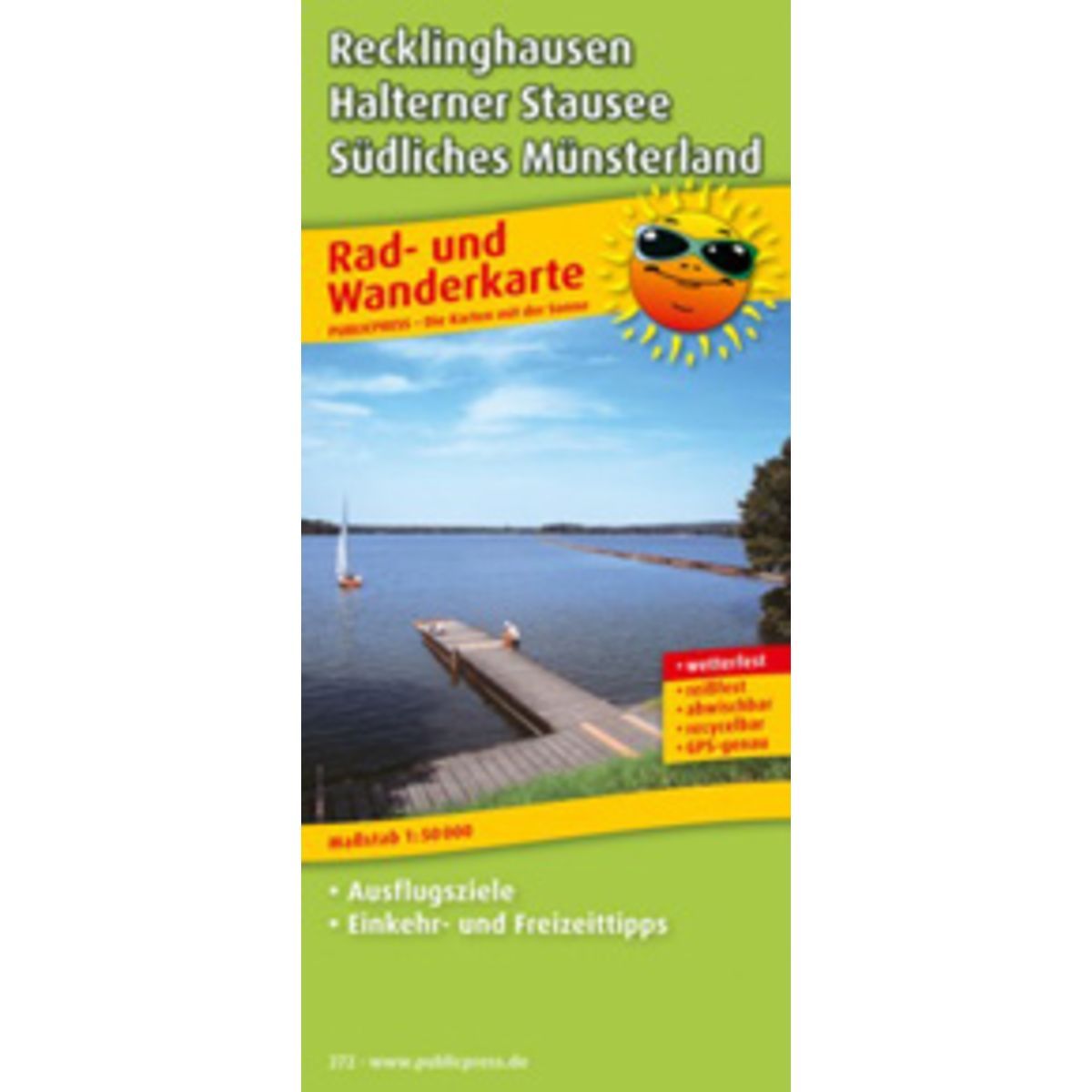 Recklinghausen – Halterner Stausee – Southern Westmünsterland cycling and hiking map
