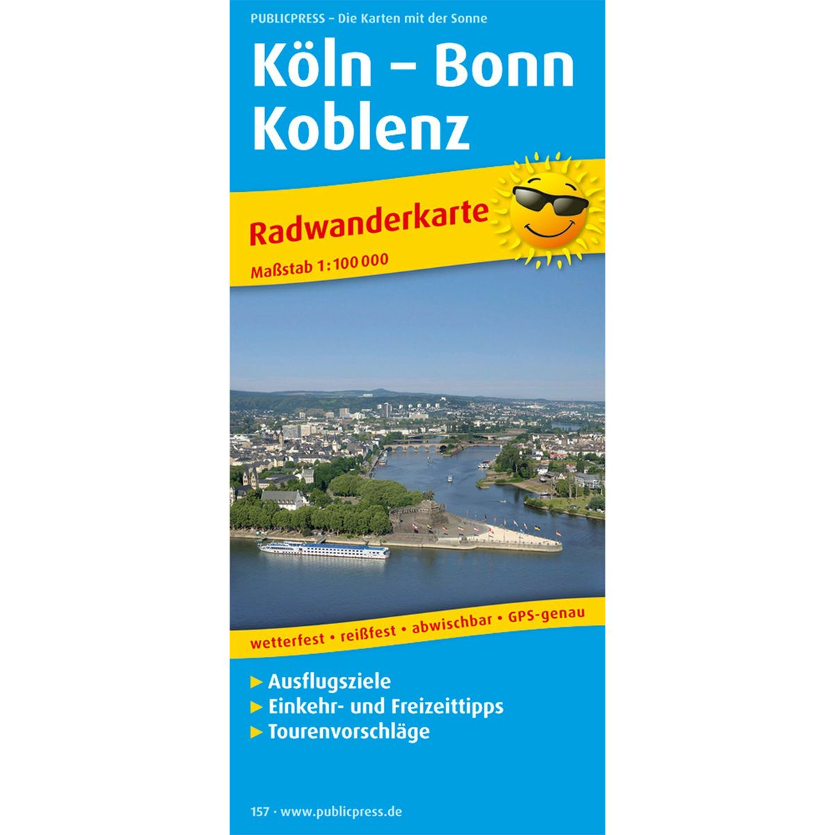 Cologne – Bonn – Koblenz bike tour map