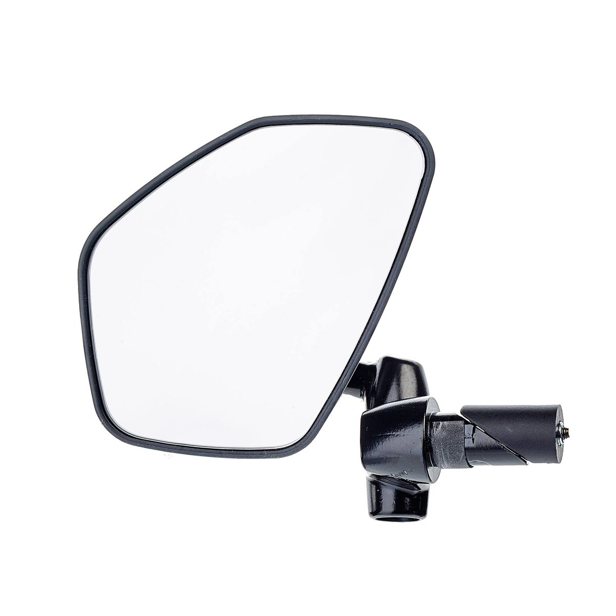 Bicycle Bike Aluminum Handlebar End Rear Rearview Back View Glass Mirror New