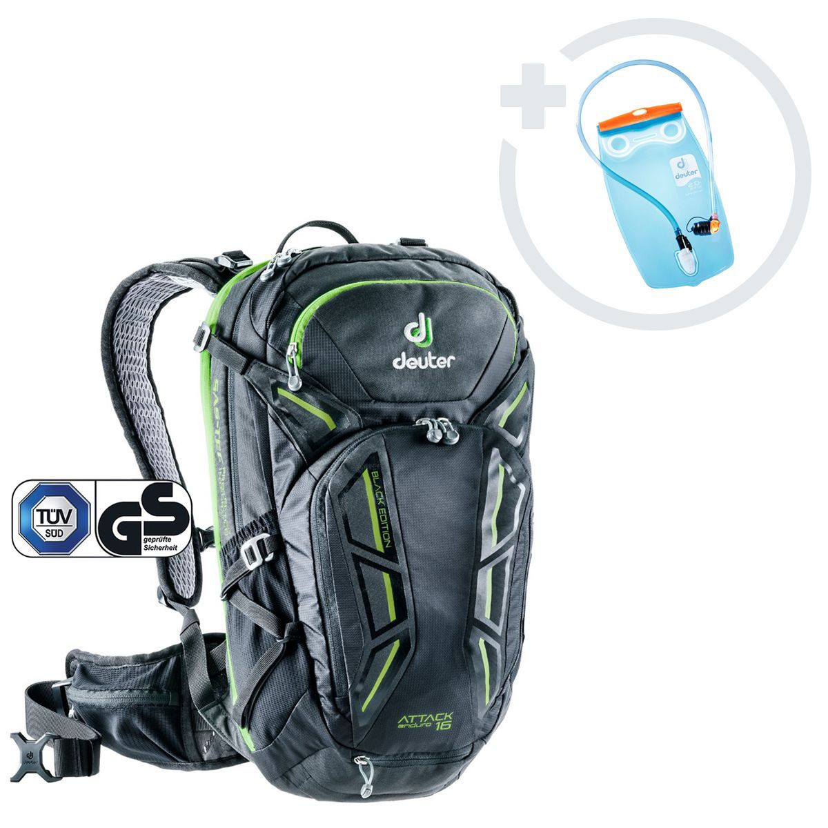 ATTACK ENDURO 16 BLACK EDITION Backpack Incl. Streamer 2l Hydration Bladder