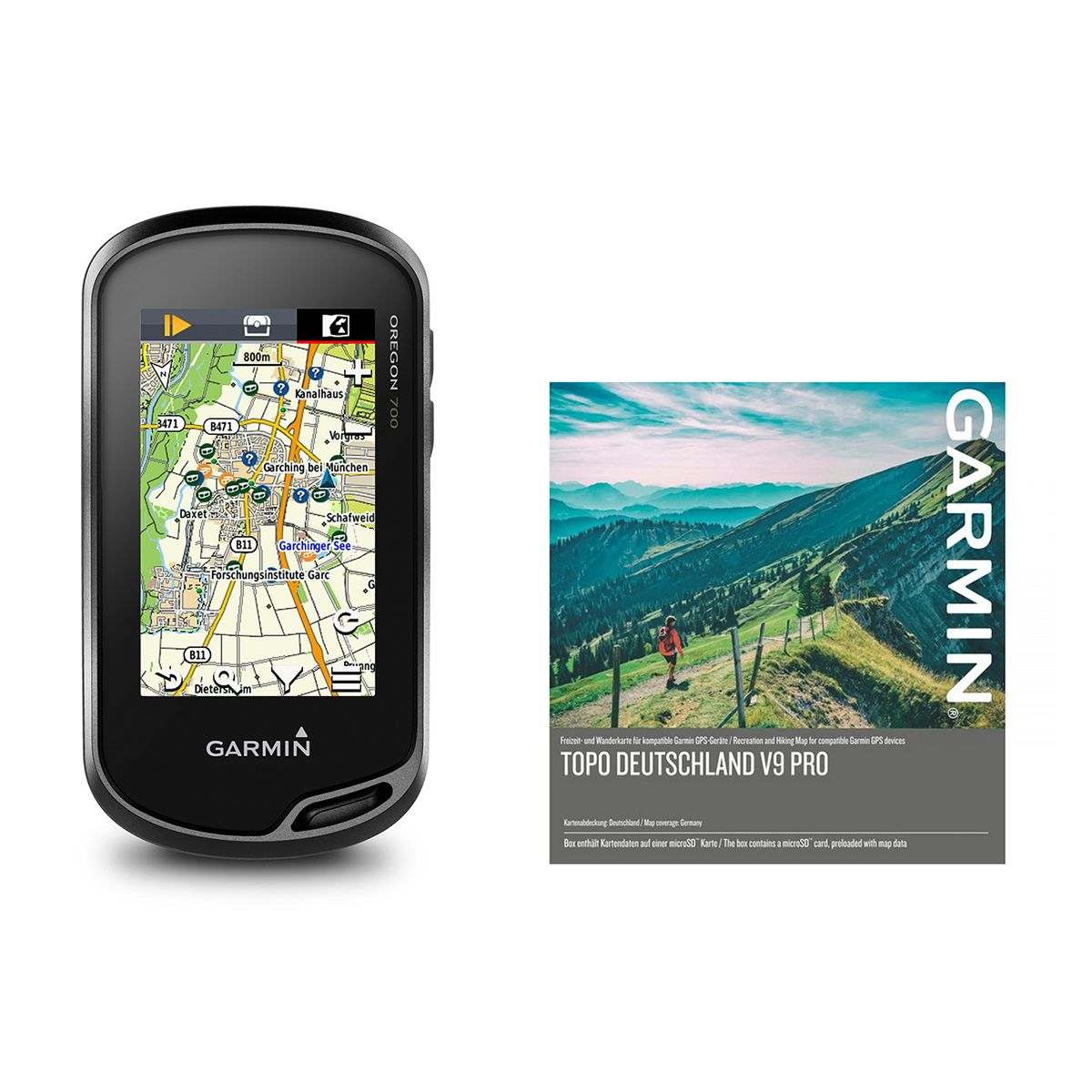 Oregon 700 GPS Device with Topo Germany V9 Pro Map