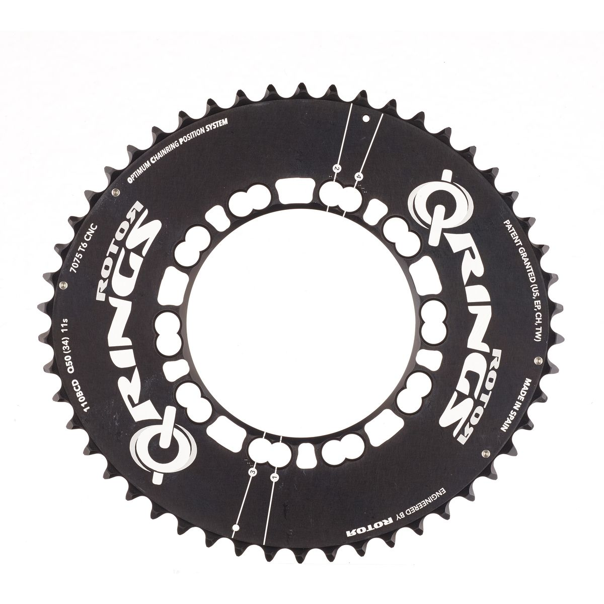 Q-Rings Aero 50 tooth chainring 110mm bolt circle