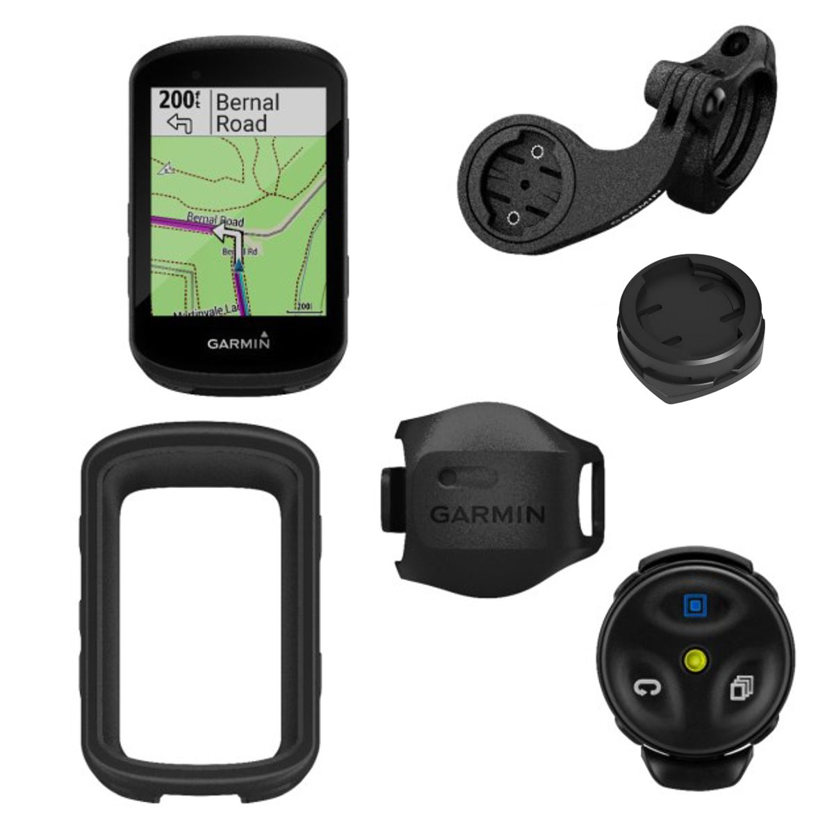 Edge 530 GPS Bike Computer MTB Bundle with V Sensor + Remote Control + Sleeve