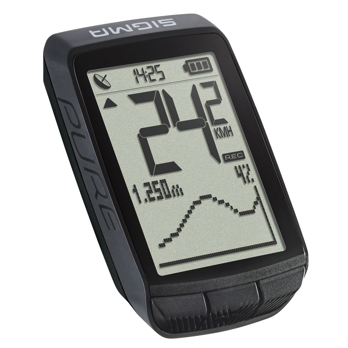 Pure GPS bike computer with integrated altimeter