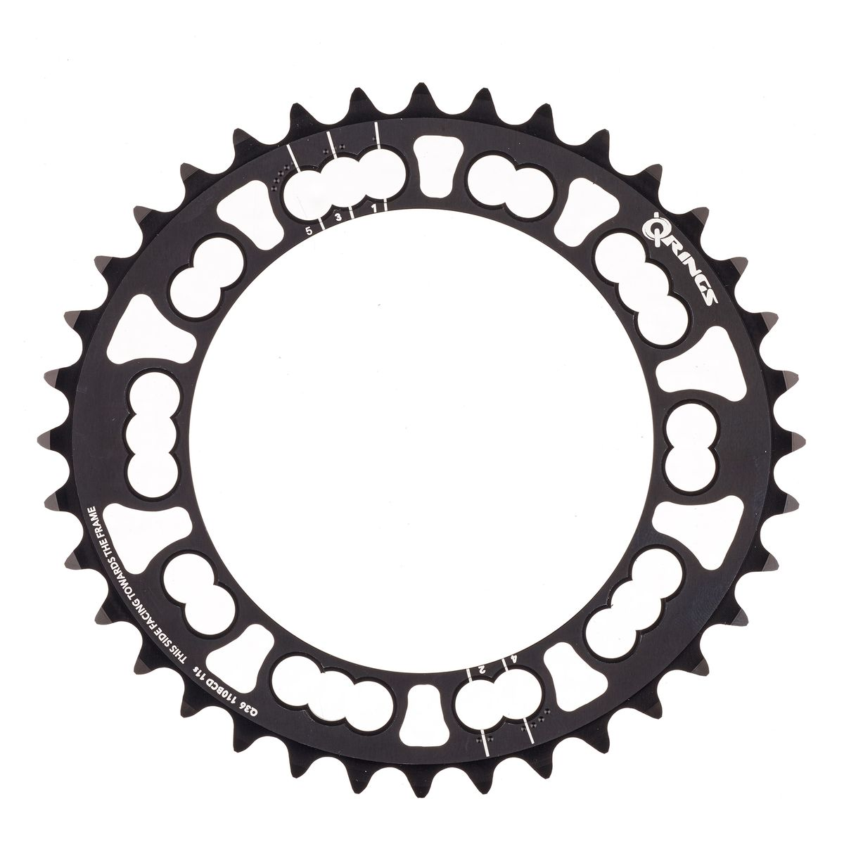 Rotor Q-Rings 36-tooth chainring | Klinger