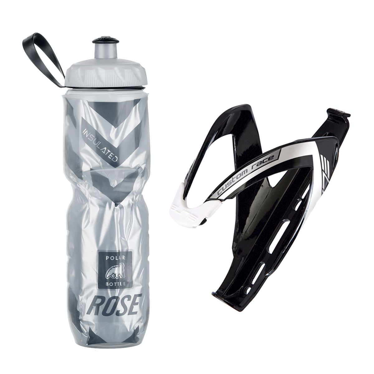 Echt Cool insulated drinks bottle 700 ml + Elite Custom Race bottle cage set