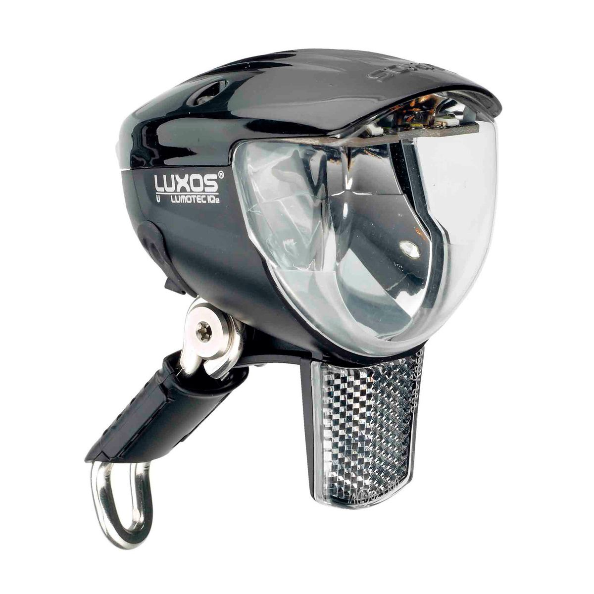B + M Lumotec IQ2 Luxos U senso plus headlight with USB connection | Hjelmlygter