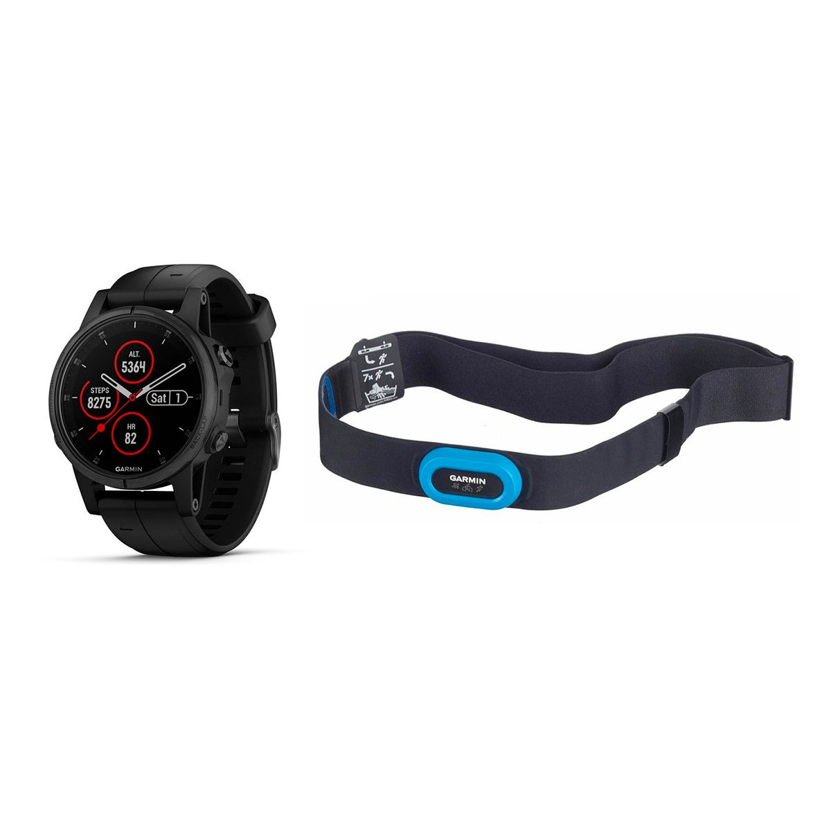 Garmin Fenix 5S Plus Sapphire Bundle GPS watch