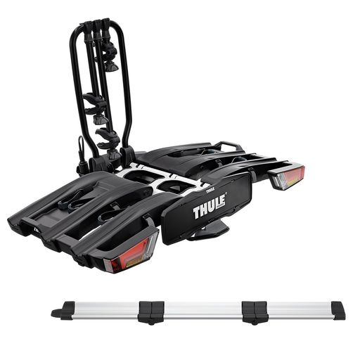 EasyFold XT 934 Black Edition Hitch Rack + Foldable Loading Ramp