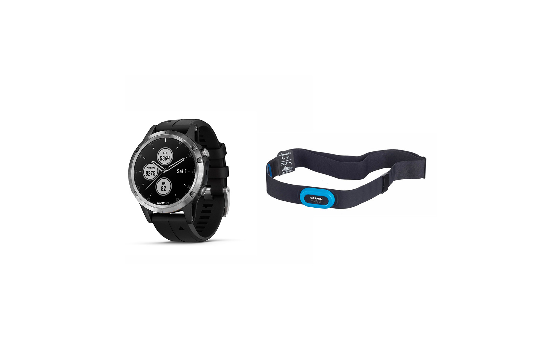 Buy Garmin Fenix 5 Plus Saphir Bundle GPS Multisport-Uhr | ROSE Bikes