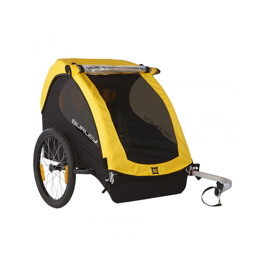 BURLEY BEE child bike trailer for two kids