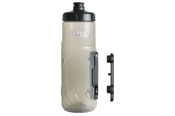 Drinks bottle with magnetic bottle cage