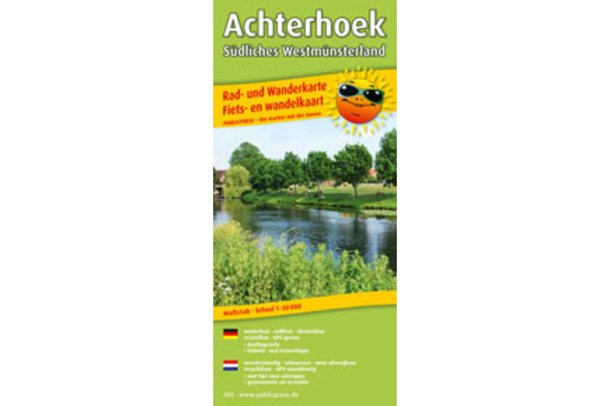 Achterhoek – Southern Westmünsterland cycling and hiking map