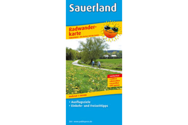 Sauerland cycling map